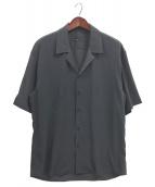 LAD MUSICIAN(ラッドミュージシャン)の古着「OPEN COLLAR BIG SHIRT」|ネイビー