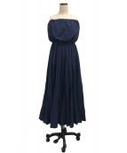 MARIHA(マリハ)の古着「草原の夢のドレス」 ネイビー