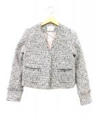 IENA(イエナ)の古着「Ocaリングラメツィードジャケット」|ブラック