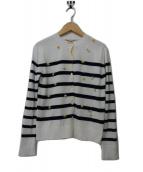MUVEIL(ミュベール)の古着「刺繍入りニットカーディガン」|ホワイト
