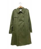 UNITED TOKYO(ユナイテッドトウキョウ)の古着「ボディギャバトレンチコート」|カーキ