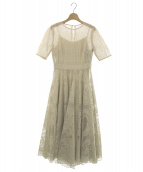 FRAY ID(フレイアイディー)の古着「サーキュラーレースドレス」|ベージュ