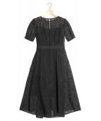 FRAY ID(フレイアイディー)の古着「エンブロイダリードレス」 ブラック