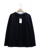 INDIVI(インディヴィ)の古着「ノーカラーポンチジャケット」 ブラック