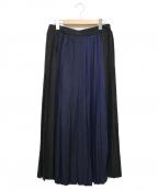 LE PHIL(ル フィル)の古着「グラデーションプリーツスカート」 ネイビー