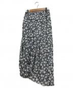 NEHERA(ネヘラ)の古着「花柄ロングスカート」|ブラック