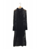 LIHUA(リーファー)の古着「レースワンピース」|ブラック