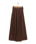 Lily Brown(リリーブラウン)の古着「バリエーションシースルースカート」|ブラウン