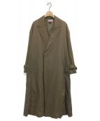 MAISON SPECIAL(メゾンスペシャル)の古着「バイカラーウールチェスターコート」|ブラウン