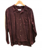KIJI(キジ)の古着「オープンカラーシャツ」|ワインレッド
