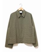 YOKE(ヨーク)の古着「カットオフドリズラージャケット」|イエロー
