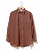 YOKE(ヨーク)の古着「オーバーサイズチェックシャツ」|レッド