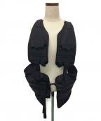 meanswhile(ミーンズワイル)の古着「Split Luggage Vest / ベスト」|ブラック