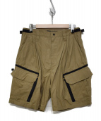 meanswhile(ミーンズワイル)の古着「Luggage Cargo Shorts」|ベージュ
