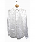 BEAMS F(ビームスエフ)の古着「リネンボタンダウンシャツ」|ホワイト