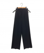 TELA(テラ)の古着「ハイウエストワイドパンツ 」|ブラック