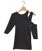 AMERI(アメリ)の古着「SLIP NECK KNIT」|ブラック