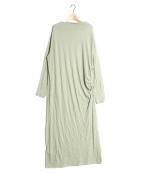 Uhr(ウーア)の古着「Asymmetry Dress」|ライトグリーン