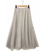 STUNNING LURE(スタニングルアー)の古着「シアープリーツスカート」|グレー