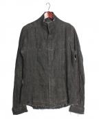 D.HYGEN()の古着「Ink coated linen shirt」|グレー