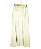 GALLARDA GALANTE(ガリャルダガランテ)の古着「ワッシャーフレアスカート」|ベージュ