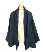 Honnete(オネット)の古着「リネンショールカラージャケット」|ネイビー