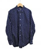 CDG(シーディージー)の古着「ポルカドットシャツ」 ネイビー