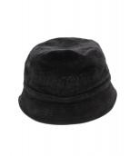 Supreme×LACOSTE(シュプリーム × ラコステ)の古着「18SS Velour Bucket Hat」|ブラック