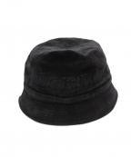 Supreme×LACOSTE(シュプリーム×ラコステ)の古着「18SS Velour Bucket Hat」|ブラック