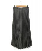 Ne-net(ネネット)の古着「デニムプリーツスカート」|グレー
