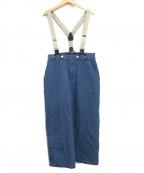 bulle de savon(ビュル デ サボン)の古着「10oz デニムヒッコリー吊りスカート」|インディゴ