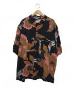 NOMA t.d.(ノーマティーディー)の古着「ルローラルレクセルアロハシャツ」 ブラック