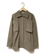 THE IRON(アイロン)の古着「PANEL SHIRTジャケット」 カーキ