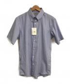 SOVEREIGN(ソブリン)の古着「半袖ストライプBDシャツ」|ブルー