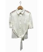 ()の古着「レースリボンブラウス」|ホワイト