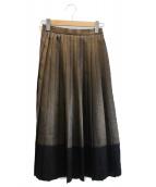 GRACE CONTINENTAL(グレースコンチネンタル)の古着「プリーツフレアスカート」|ブラウン