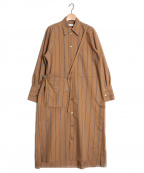 Ujoh(ウジョー)の古着「サコッシュシャツドレス」|ブラウン