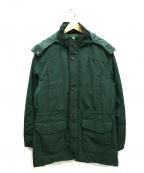 BROOKS BROTHERS Red Fleece(ブルックスブラザーズレッドフリース)の古着「フーデッドコート」|グリーン