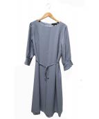 Reflect(リフレクト)の古着「裾レースジョーゼットワンピース」 ブルー