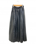 MM6 Maison Margiela()の古着「エコレザープリーツスカート」|ブラック