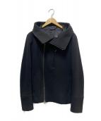 ATTACHMENT(アタッチメント)の古着「ウールフーデッドジャケット」|ブラック