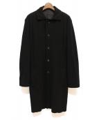 Yohji Yamamoto pour homme(ヨウジヤマモトプールオム)の古着「シングルウールコート」|ブラック