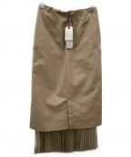 sophila(ソフィラ)の古着「タイトヘムプリーツスカート」|ベージュ