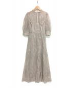 FRAY I.D(フレイアイディー)の古着「チュールエンブロイダリードレス」