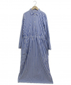 BARENA(バレナ)の古着「ストライプシャツワンピース」|ブルー