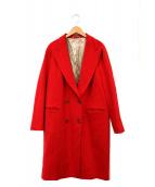 ALBERTO BIANI(アルベルトビアーニ)の古着「チェスターコート」|レッド