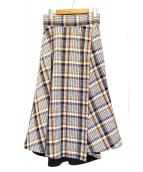 GALLARDA GALANTE(ガリャルダガランテ)の古着「チェックマキシスカート」|マルチカラー