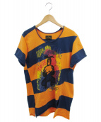 VIVIENNE WESTWOOD ANGLOMANIA(ヴィヴィアンウエストウッド アングロマニア)の古着「ボーダーカットソー」 オレンジ×ネイビー