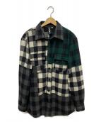 Liam Hodges(リアムホッジス)の古着「マルチチェックオーバーサイズシャツ」