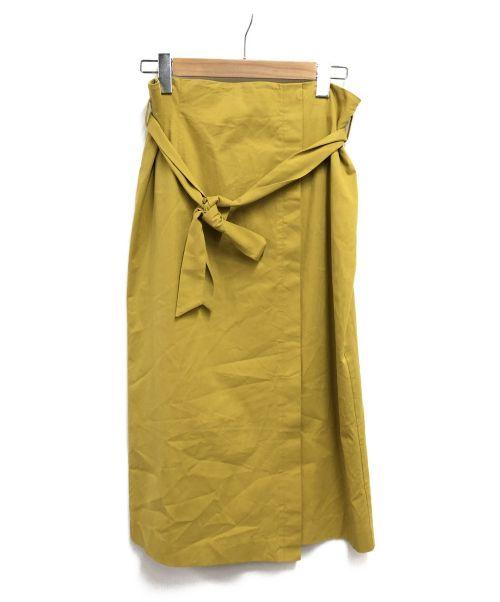 TRANS WORK(トランスワーク)TRANS WORK (トランスワーク) ストレッチツイルスカート イエロー サイズ:SIZE40の古着・服飾アイテム